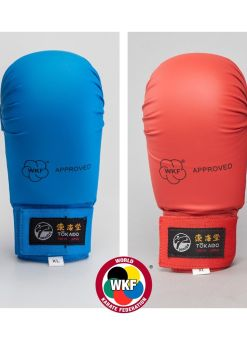 pack de guantillas tokaido wkf azules y rojas