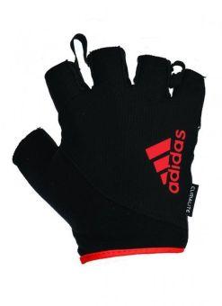 guantes de entrenamiento fitness adidas essential - negros/rojos