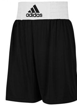 pantalones para boxeo adidas V14109 de color negro y blanco