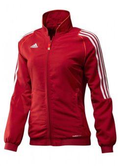 chaqueta deportiva t12 adidas roja de mujer