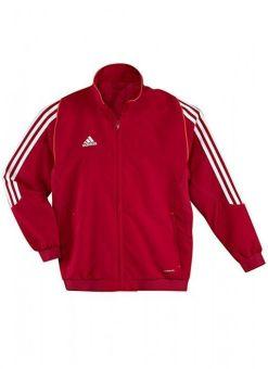 chaqueta de deporte adidas t12 roja para niños