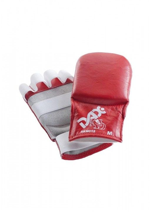 guantes de jiu jitsu de cuero DAX Kumite rojos