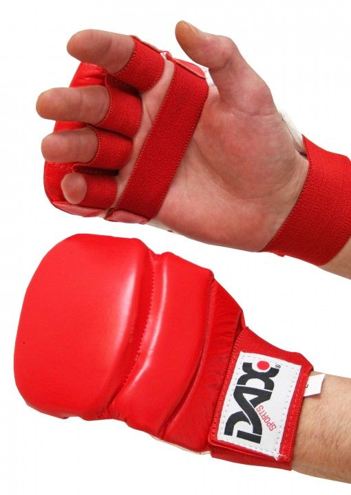 guantes de jiu jitsu Kumite 4 de color rojo
