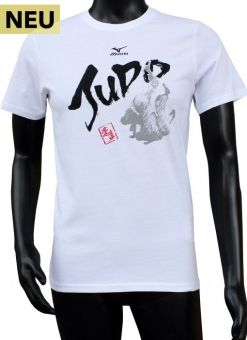 camiseta mizuno judo blanca para hombre