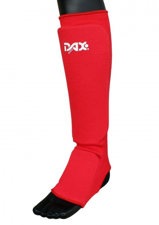 Espinillera elástica DAX, roja - KickBoxing