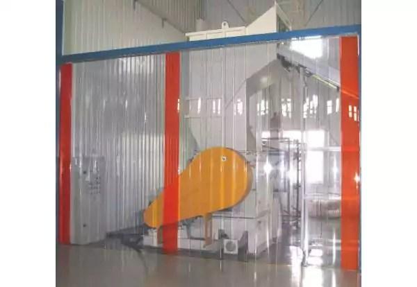 rideau a lamelle pvc industriel rideau