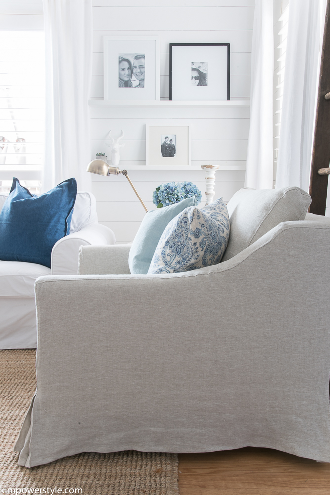 I think they are the perfect 'modern cottage' style chair. Custom Slipcovers for my Ikea Armchairs - Kim Power Style