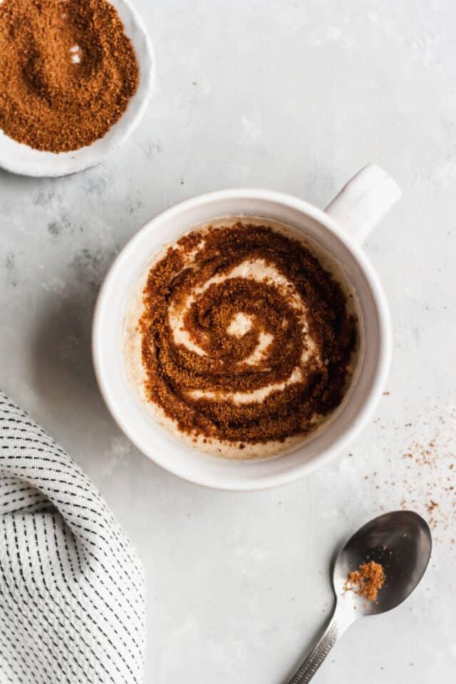 cinnamon roll microwave mug cake recipe