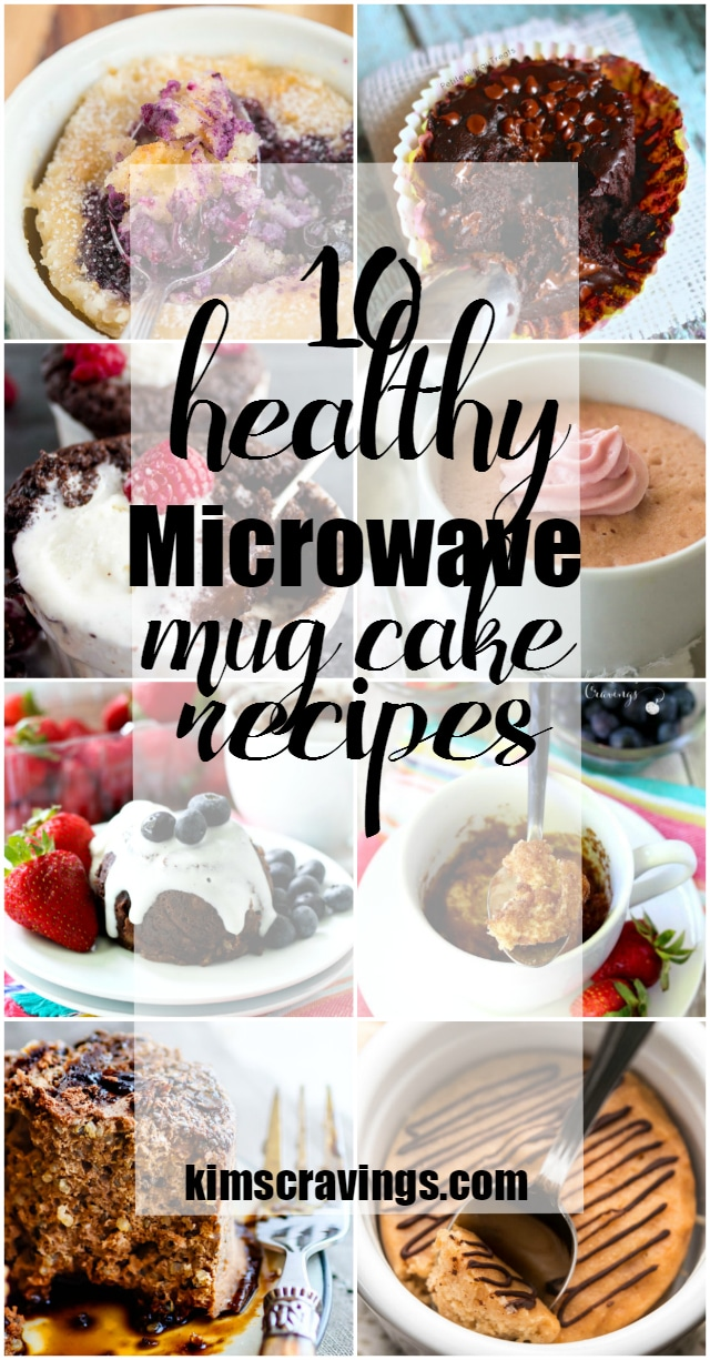 10 healthy microwave mug cake recipes