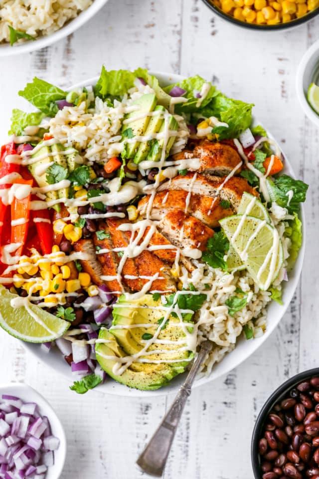 Fajita Chicken Burrito Bowls