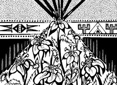 Flower Tepee