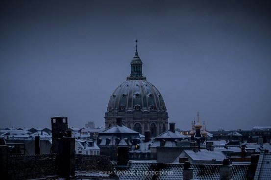 Marblechurch - snow view