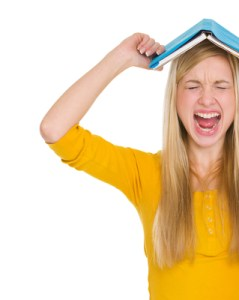girl with book rage