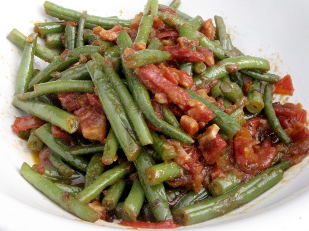 Green Beans With Tomatoes And Pancetta Kimversations