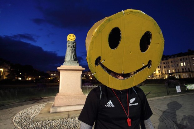 Smiley, Warrior Square, St. Leonards, copyright, Dave Reading, 2016