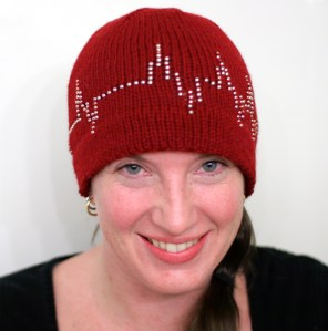Heartbeat hat pattern, by Christa Giles