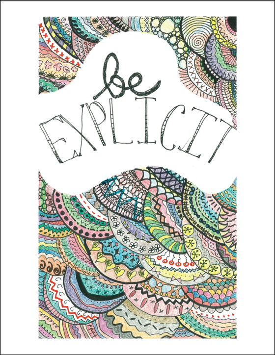 Be Explicit free printable (or pay what you want with 1/2 donated to Charity Water!)