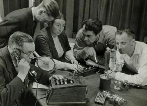 Opname van een hoorspel / Recording a radio play
