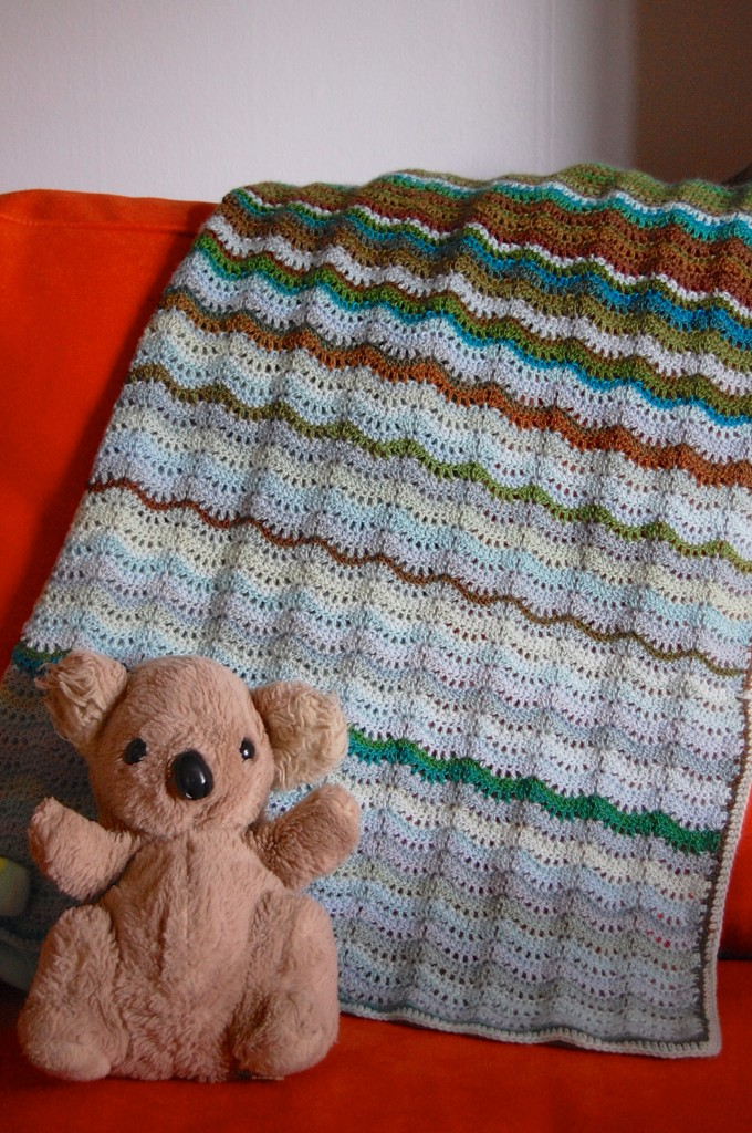 Land and Sea Baby Blanket