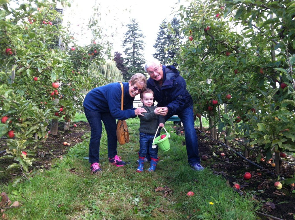 Apple picking with grandparents!