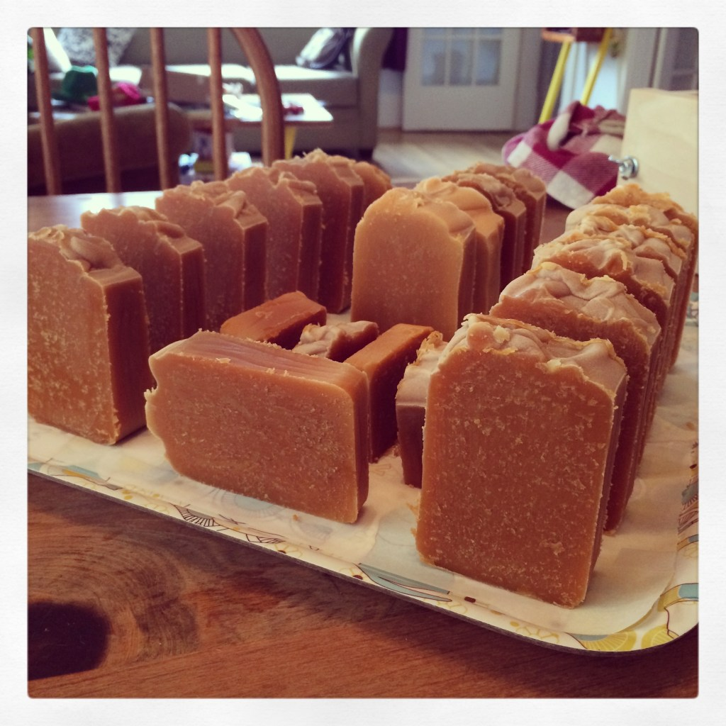 Finished Cold Process Soap With Honey