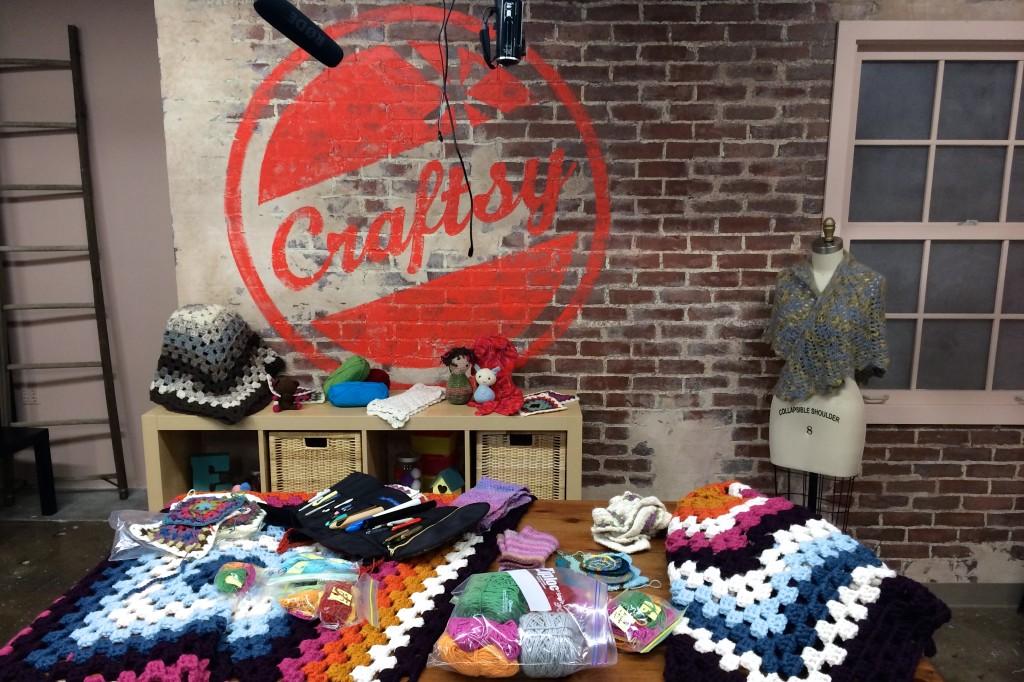 crochet class filming