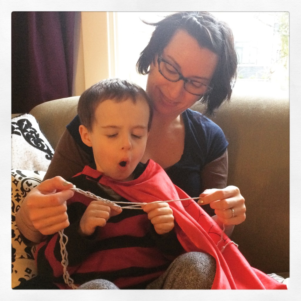 finger crochet lesson