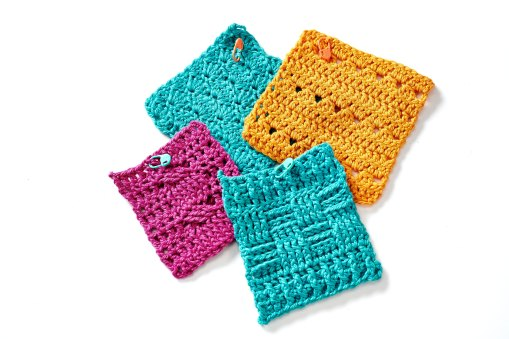 image of crochet swatches