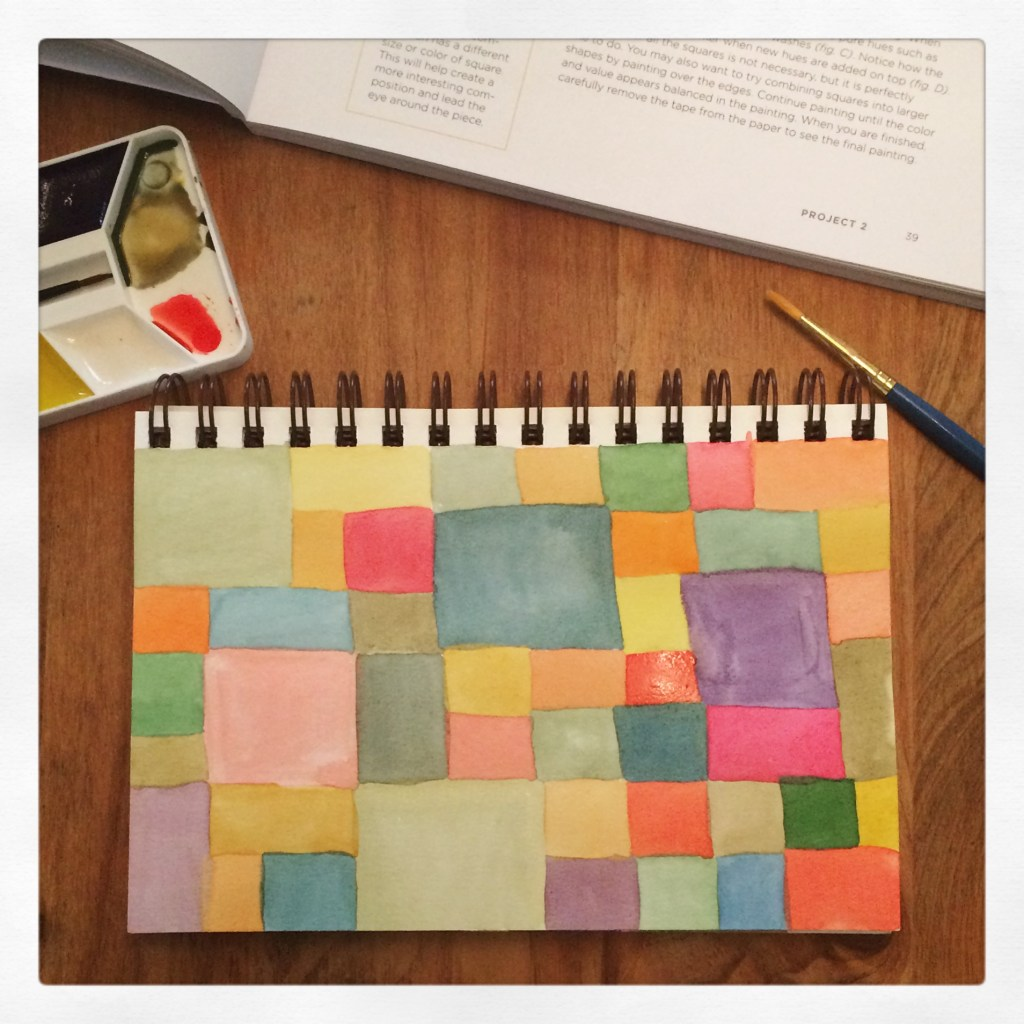 watercolor squares, from Water Paper Paint