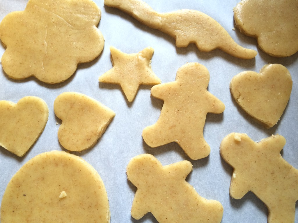 Non-dairy part-whole-wheat sugar cookies. Yum!