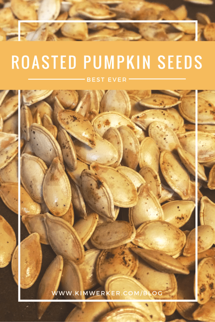 Best roasted pumpkin seeds EVER. Boil in saltwater before baking!