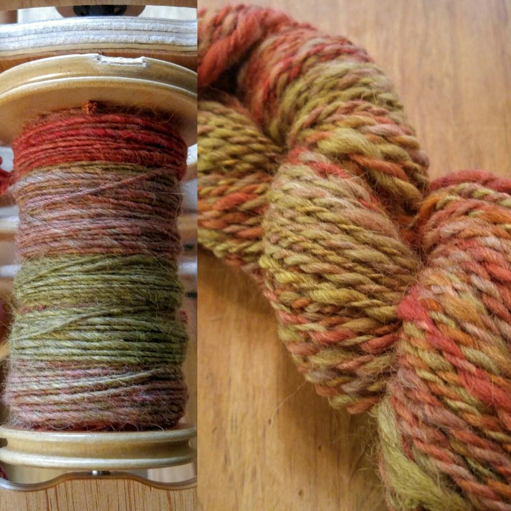 wool handspun yarn