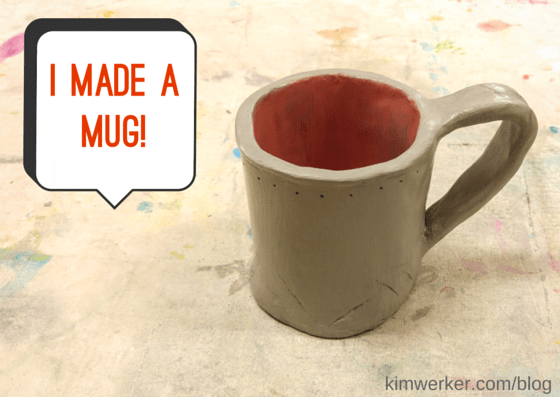 I made a mug at a 4Cats workshop. So much fun!