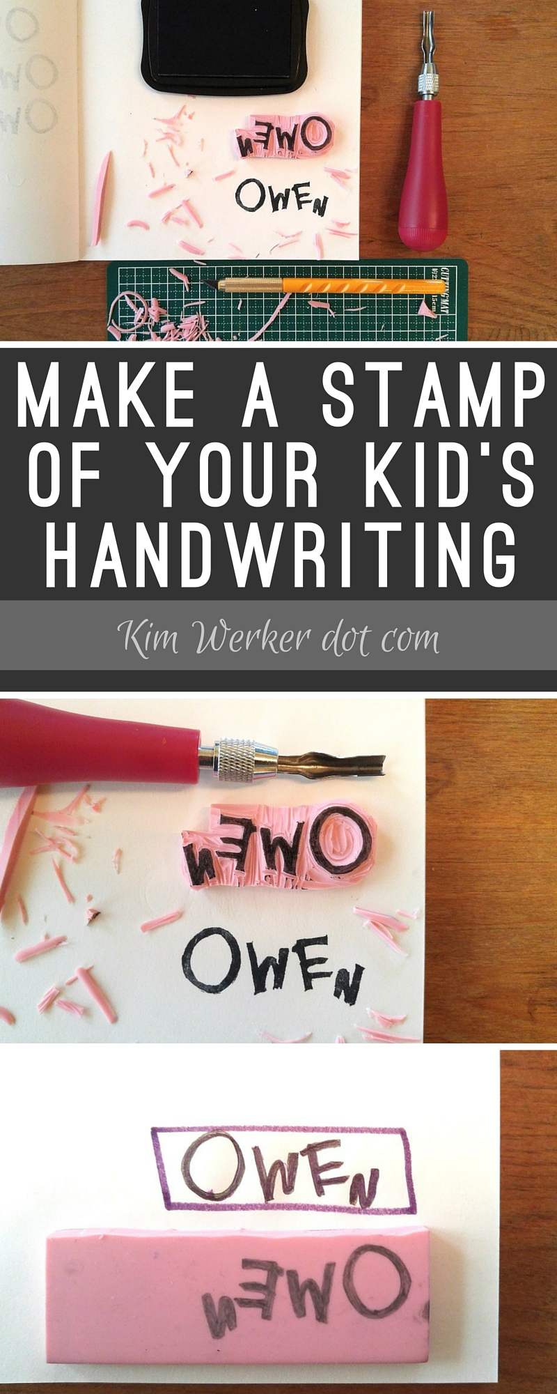 How To Make a Stamp of Your Kid's Handwriting