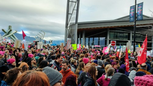 #womensmarch in Vancouver, BC, Canada – http://www.kimwerker.com/blog