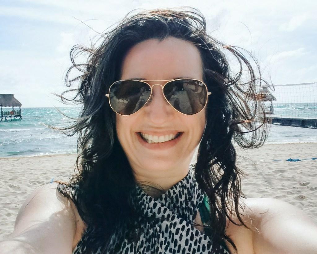 Beach hair in Mexico.