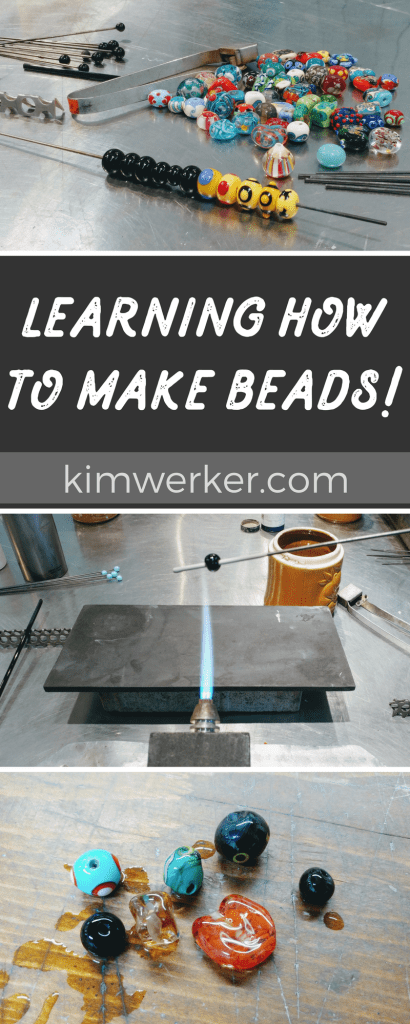 Making glass beads for the first time! More at http://www.kimwerker.com/blog