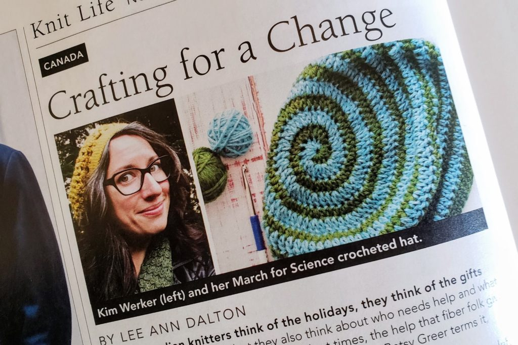 Crafting for a Change, in Vogue Knitting Holiday 2017