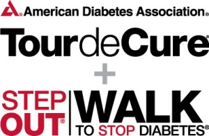 ADA Tour de Cure Step Out Walk Logo