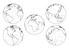 Landkarten Kontinente Weltkarte Europische Lnder