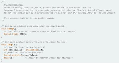WordPress Syntax Highlighting für Arduino Source Code