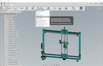 Autodesk Fusion 360 mit deutscher Oberfläche