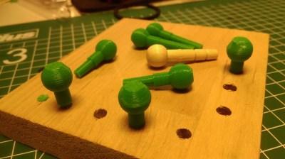 Brio Ersatz Zapfen aus dem 3D-Drucker