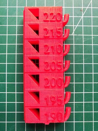 Temperatur Test ebay china Filament
