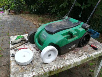 Aldi Rasenmäher Ersatzrad aus dem 3D Drucker