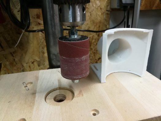 Bosch Schleifhülse in der Tischbohrmaschine