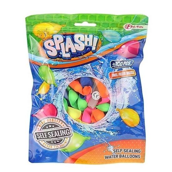 100x Zelfsluitende waterballonnen gekleurd
