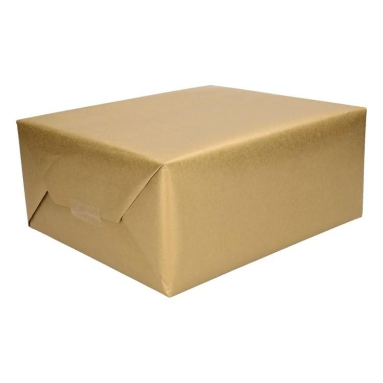 3x Inpakpapier goud 4 meter