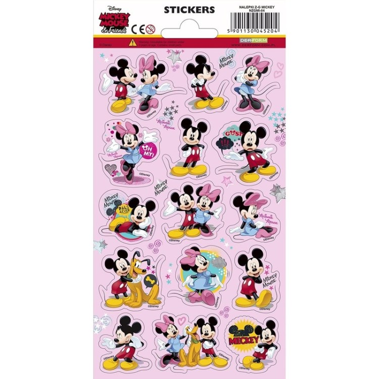 3x Stickerset Mickey en vriendjes