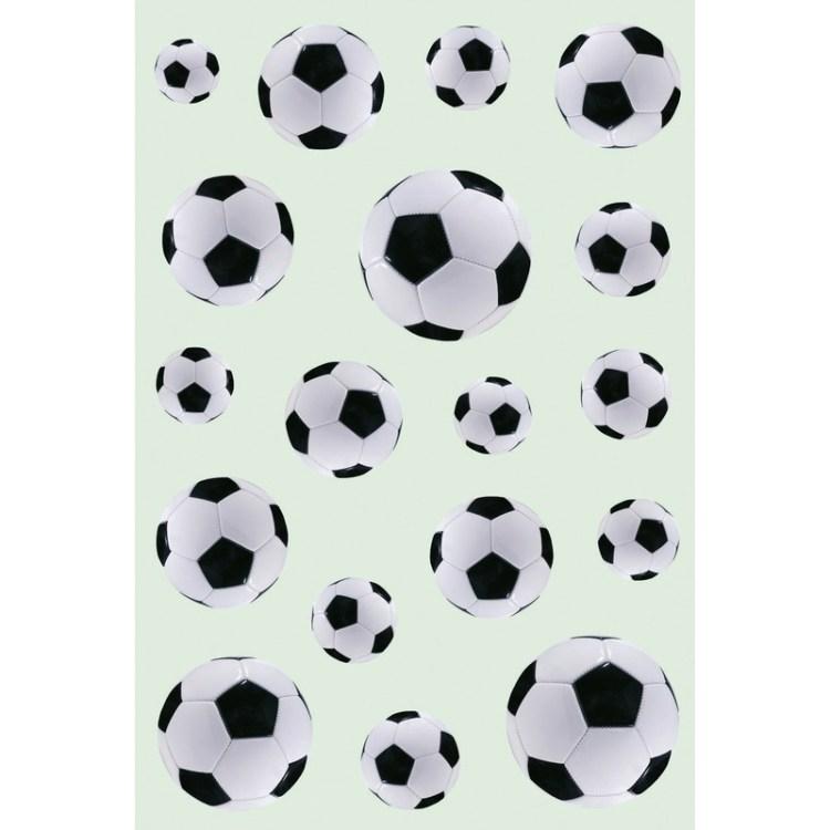 54x Zwart/witte voetballen stickers